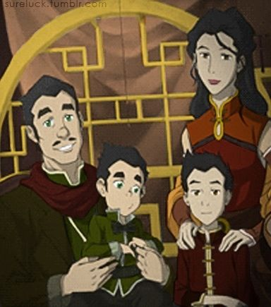 Legend of Korra: Bolin and Mako family photo colored