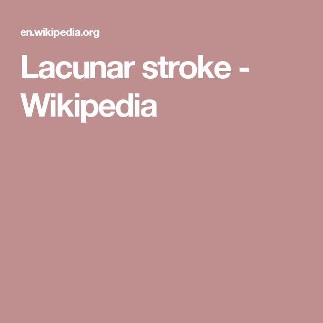 Lacunar stroke - Wikipedia