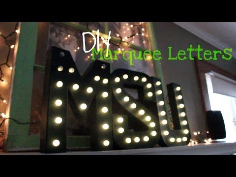 DIY | Light Up Marquee Letters - YouTube