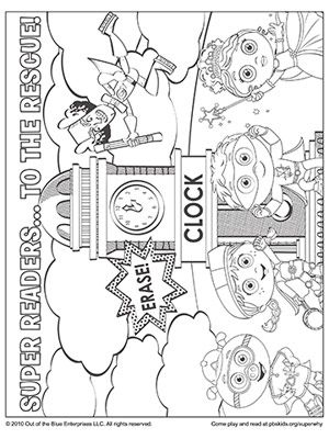 SUPER WHY Coloring Book Pages: SUPER WHY's Super Readers in a Comic (via Parents.com)