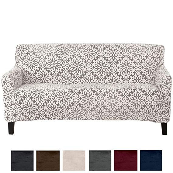 Amazon Com Great Bay Home Modern Velvet Plush Strapless Slipcover