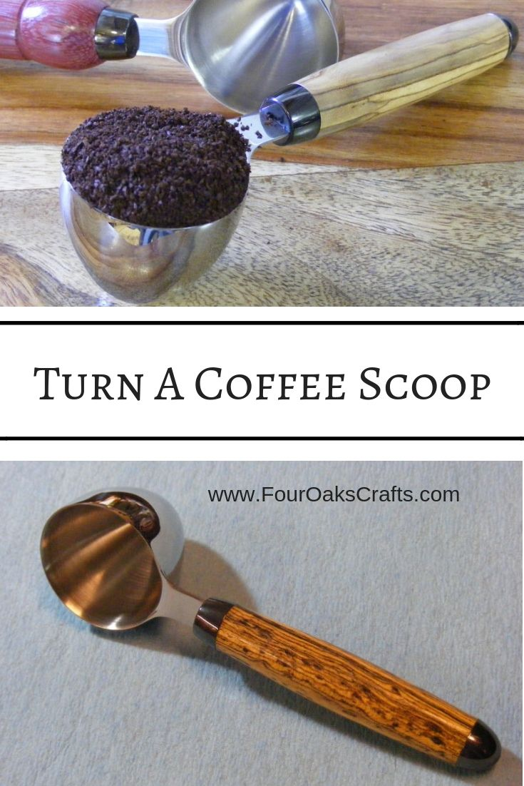 DIY Woodworking Ideas In this tutorial, I'll show you how to turn a handle for a coffee scoop made...