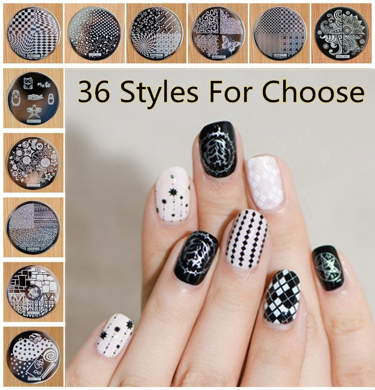 1 Piece Hive Flower Pattern etc hehe 1-36 Series Nail Art Image Plate Stamper Stamping, 36 Designs Manicure Template For Choose