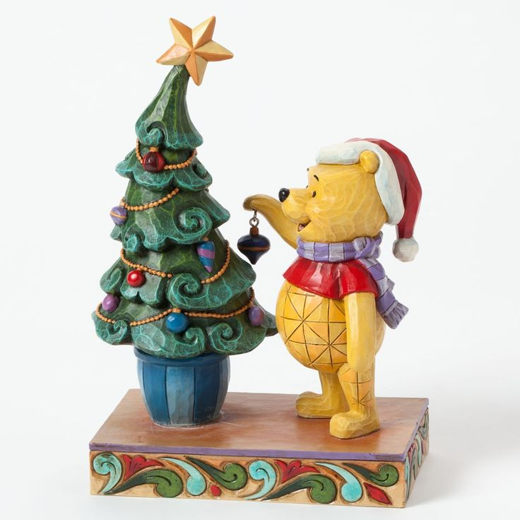 trim the tree with me figurine by disney showcase collection 4039045 winnie the pooh decorates. Black Bedroom Furniture Sets. Home Design Ideas