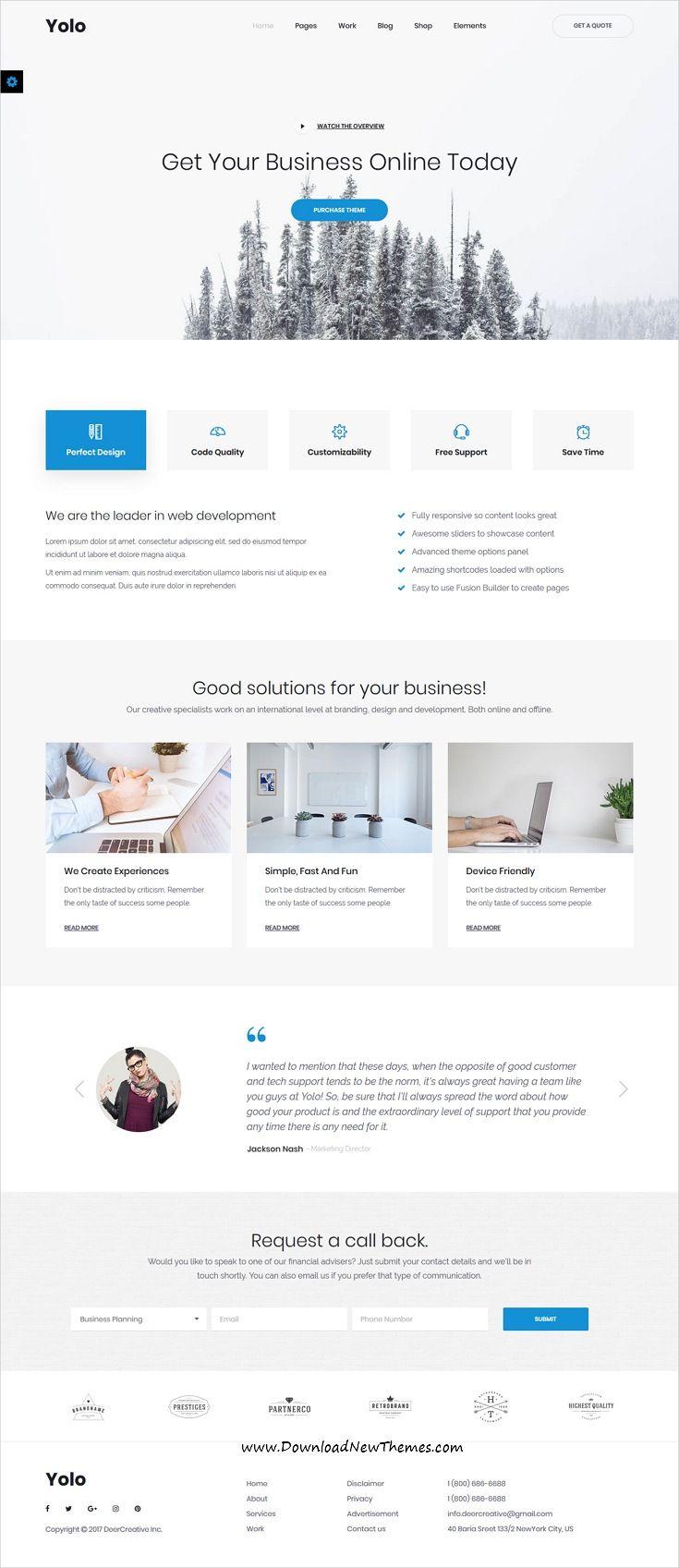 Yolo Responsive Multi Purpose Html Template Web Design Websites Web Design Quotes Web Development Design
