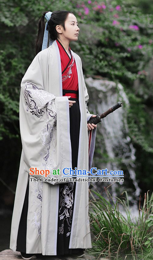 5ac77c206 Ancient Chinese Han Dynasty Prince Hanfu Garment Outfit Complete Set for Men