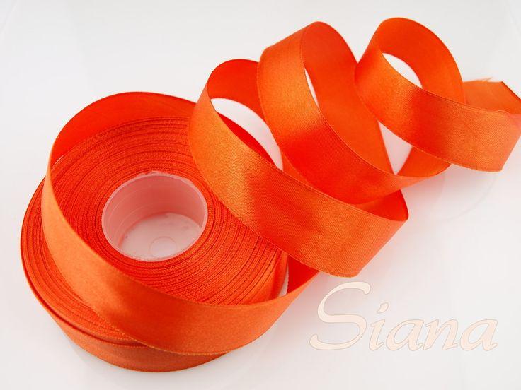 Panglica saten portocaliu - 25 mm - 1 m - COD 104 de siana Breslo