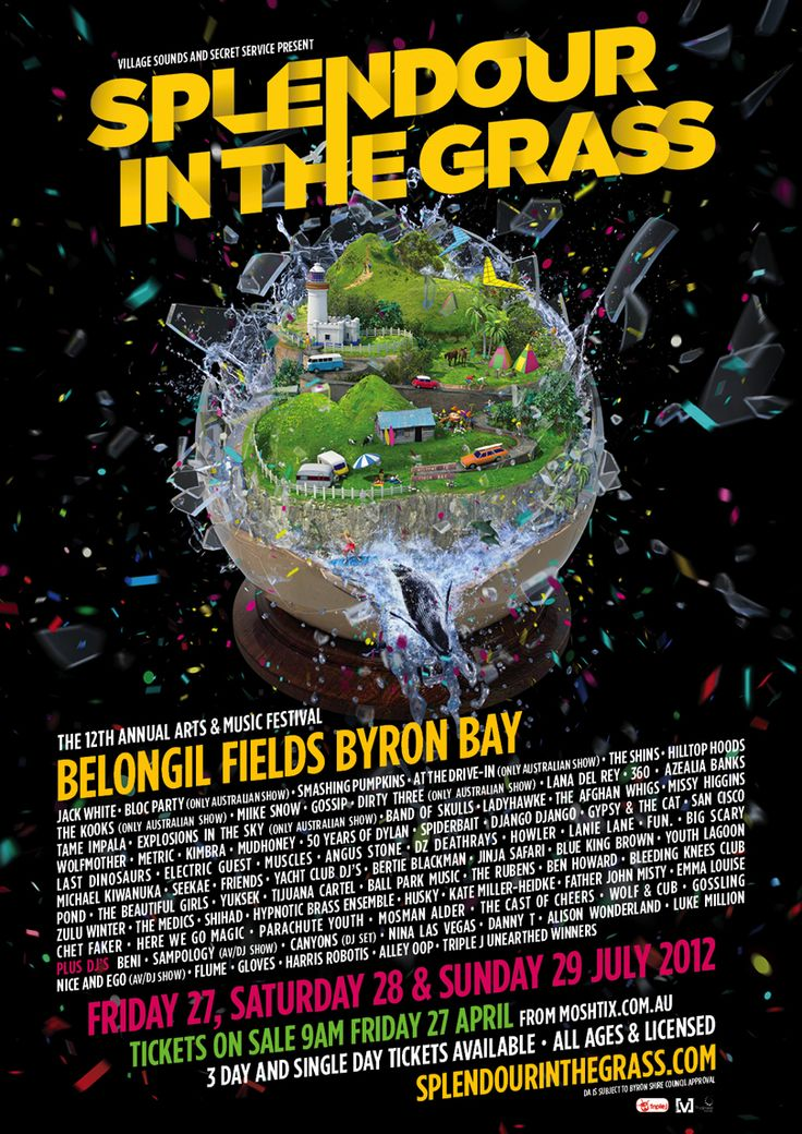 Line up for this years Splendour in the Grass, an awesome 3 day festival in July