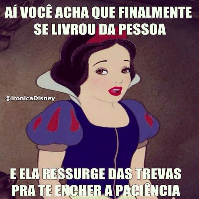 "38.4k Likes, 3,490 Comments - Disney Ironica (@ironicadisney) on Instagram: ""Sai da minha vida exu sem luz"""