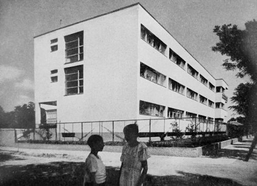 Public building in Budapest, 1936. The architect was József  Fischer and Farkas Molnár  who has studied in the famous Bauhaus school in Dessau, Germany.