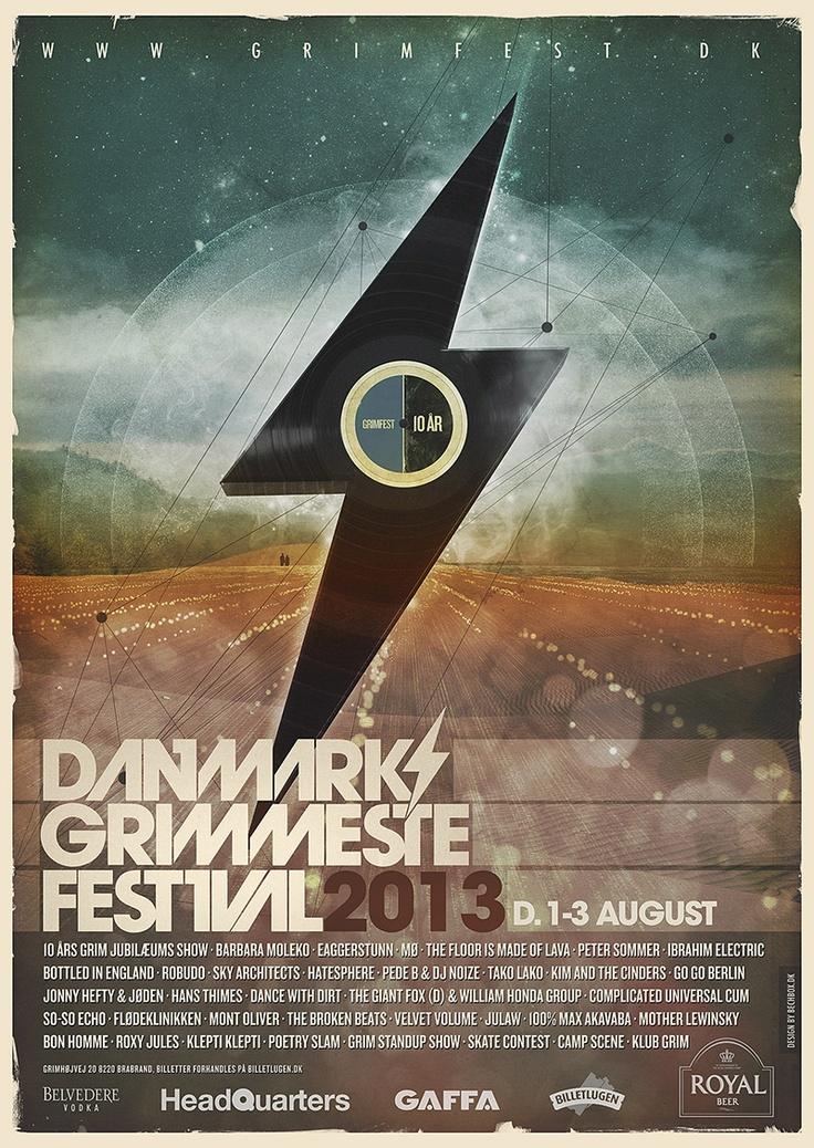 Poster for Danmarks Grimmeste Festival 2013