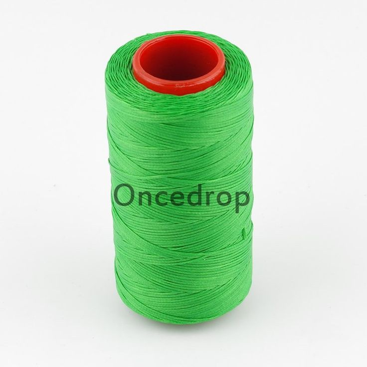 Green 250 Meter 1mm Waxed Wax Thread Cord Sewing Craft for DIY Leather Hand Stitching 14