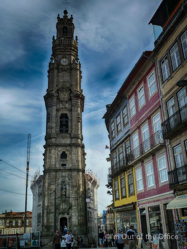 Walking in the Beautiful City of Oporto - Unesco World Heritage Site - via I'm Out of the Office 07.11.2014   The amazing city of Porto, also known as Oporto in English, is located along the Douro river estuary in the North of Portugal and is the second-largest city of the country.   Photo: Torre dos Clérigos