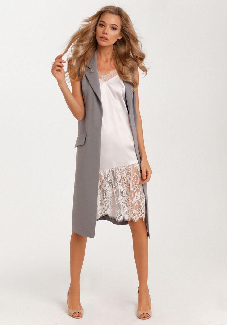 Lezzarine: дизайнерские платья | Удлиненный классический жилет.