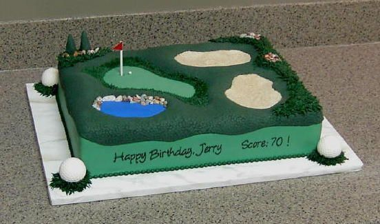 golf course - all fondant with candy golf balls