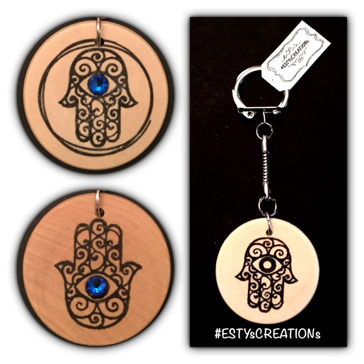 A personal favorite from my Etsy shop https://www.etsy.com/ca/listing/501145115/hamsa-keychain-with-an-optional-blue