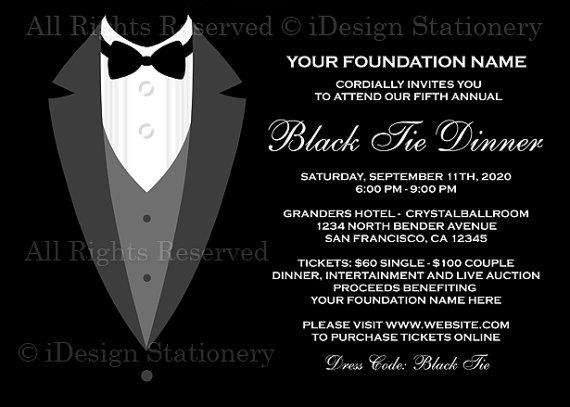 13 best black tie images on Pinterest Gala invitation, Invites - fundraiser invitation