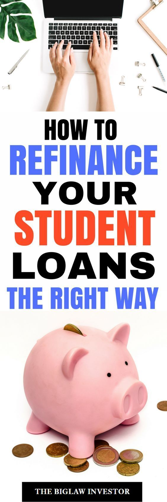 Stuck on refinancing? Learn how to refinance your student loan the right way once and for all! #refinancestudentloan #studentloan #collegedebt #payoffcollegeloans #payoffstudentloans #studentloandebt