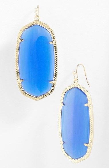 Colbalt Kendra Scott Earrings Kendra Scott 'Danielle' Oval Statement Earrings #kendrascott #earrings #KS