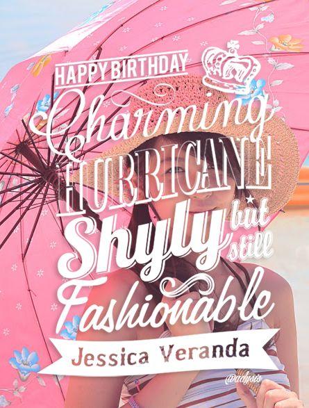 Typography for 20th Birthday Jessica Veranda JKT48