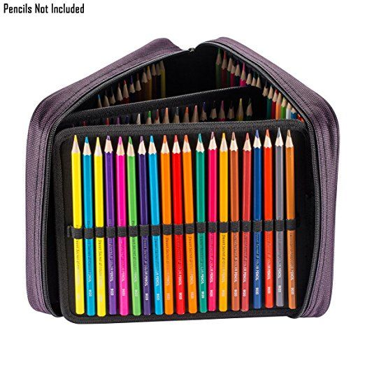 UTRO Pencil Case, Large Capacity Oxford Pencil Holder Pencil Pouch, Hold for 120 Standard Pencils Pencil Bag Coloring Pencils Organizer Storage with Handle (Purple): Amazon.co.uk: Office Products