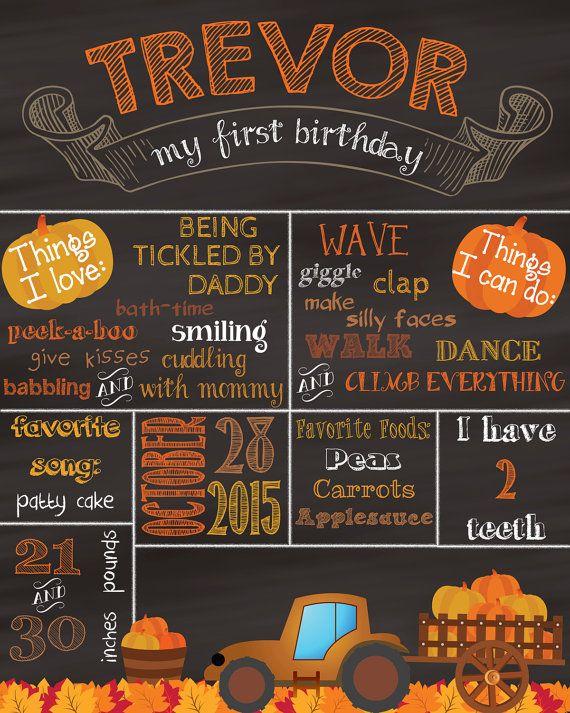 Our Little Pumpkin - Pumpkin Patch - Fall Harvest Themed Chalkboard Poster Printable Custom Hi Resolution  **Digital File**
