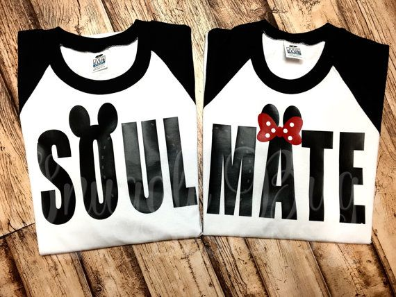 Soul Mate, Disney,Couples shirts, his and hers