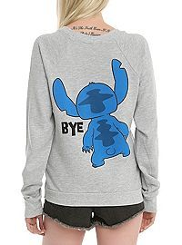 HOTTOPIC.COM - Disney Lilo & Stitch Hi & Bye Girls Pullover Top