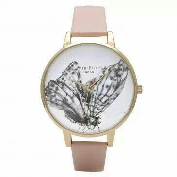 Pastel pink butterfly watch £72 www.kakao.co.uk