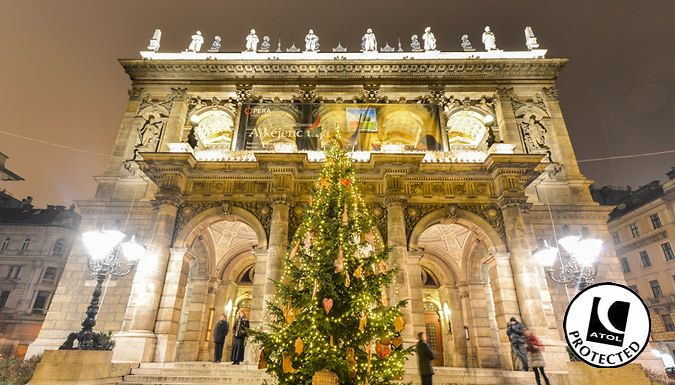 UK Holidays: Budapest, Hungary: 2-4 Night Christmas Markets Break With 4* Hotel & Flights - Up to 54% Off for just: £59.00 Deck the halls with a very merry 2, 3 or 4-night stay in beautiful Budapest.      Rest your head at the 4* Hotel Mediterranwith a garden, sauna and a mosaic hot tub      Stay in a double en suite room with free Wi-Fi and a flat-screen TV      See the market in...