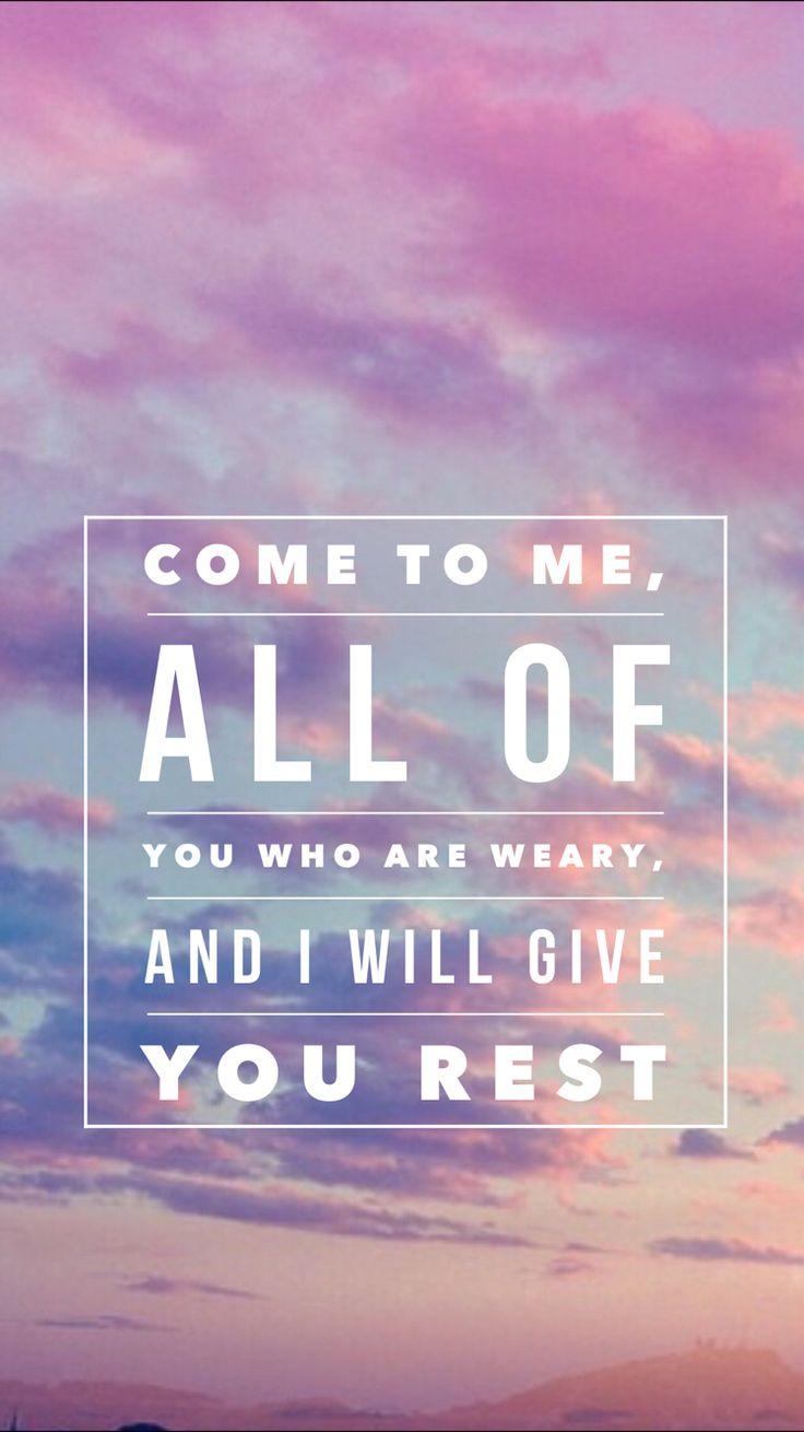 matthew 11:28 verse lockscreen