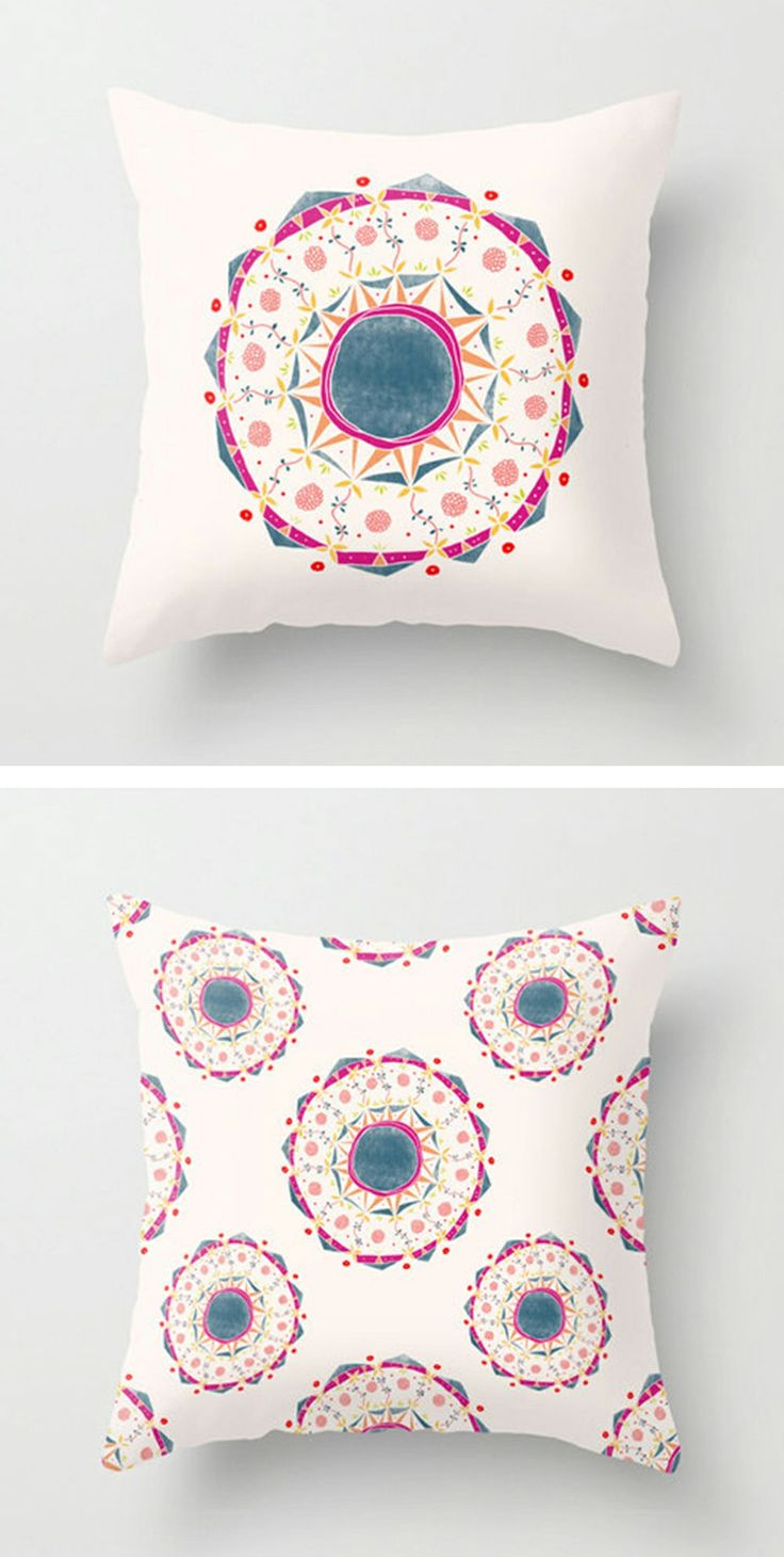 Wild forest mandala pillow