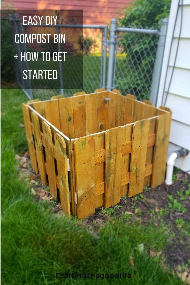 Easy Diy Wood Compost Bin Low Maintenance Garden Design Compost