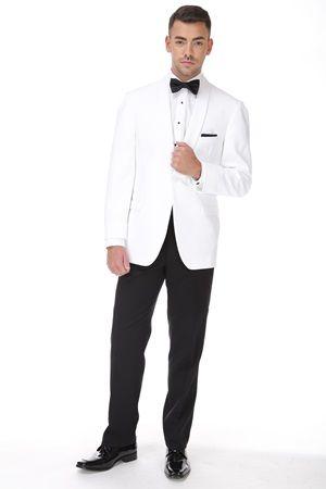 White Ike Behar Dinner Jacket #StreetTuxedo #STweddings