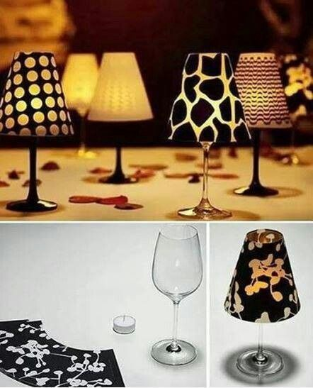 Wine glass Tea Cup Candle Holders
