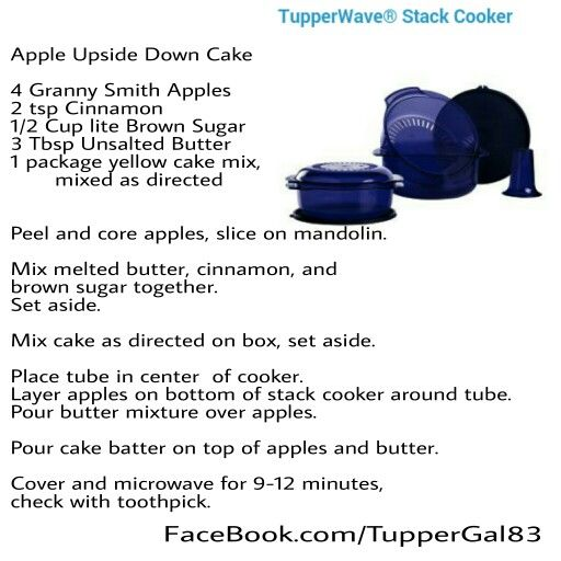 Tupperware Stack Cooker Recipes Apple Upside Down Cake
