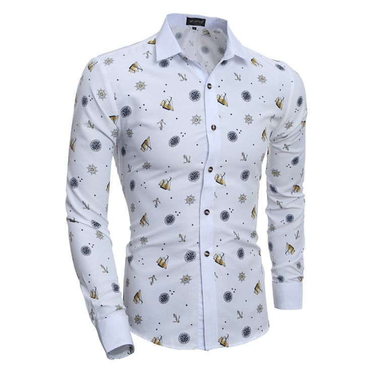 >> Click to Buy << 2017 New Fashion Prints Mens Dress Shirts Long sleeve Slim Fit Casual Social Camisas Masculinas Shirt Chemise homme #Affiliate