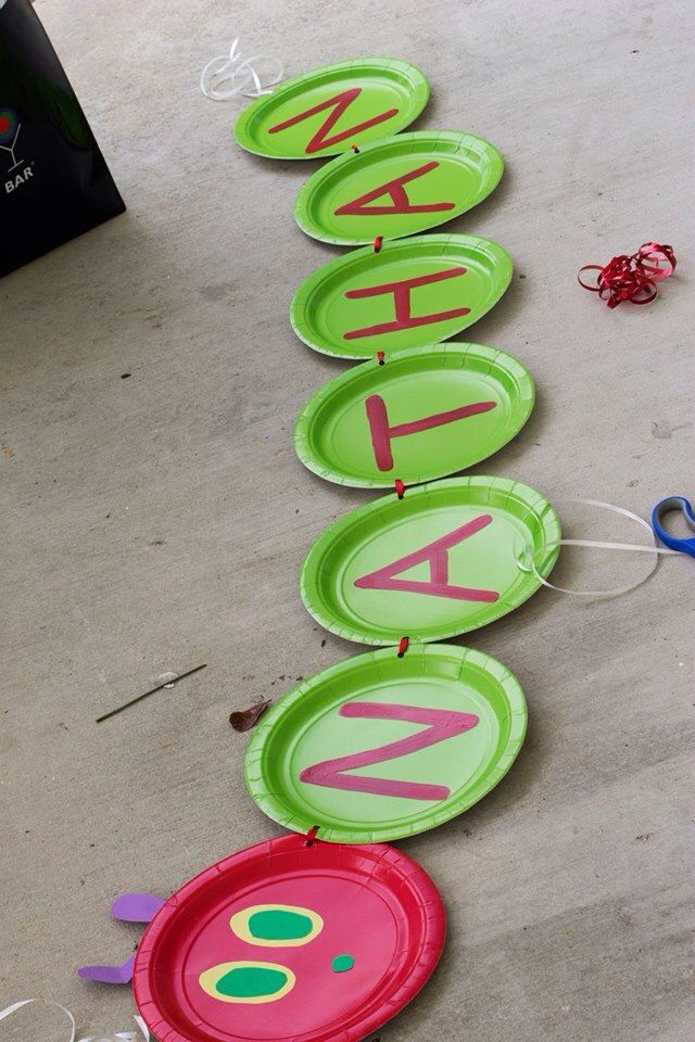 Another super idea - The Very Hungry Caterpillar 1st Birthday | birthday banner