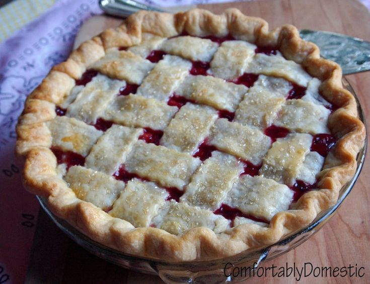 Cherry Pie Recipe (uses frozen cherries)