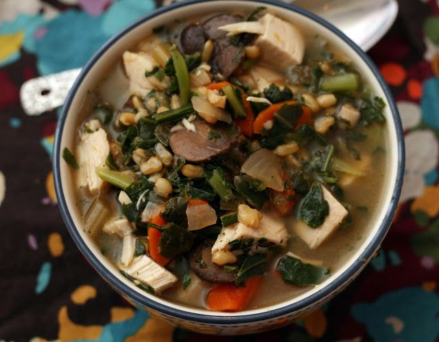 Coconut & Lime // Rachel Rappaport: Chicken, Collard & Kamut Soup