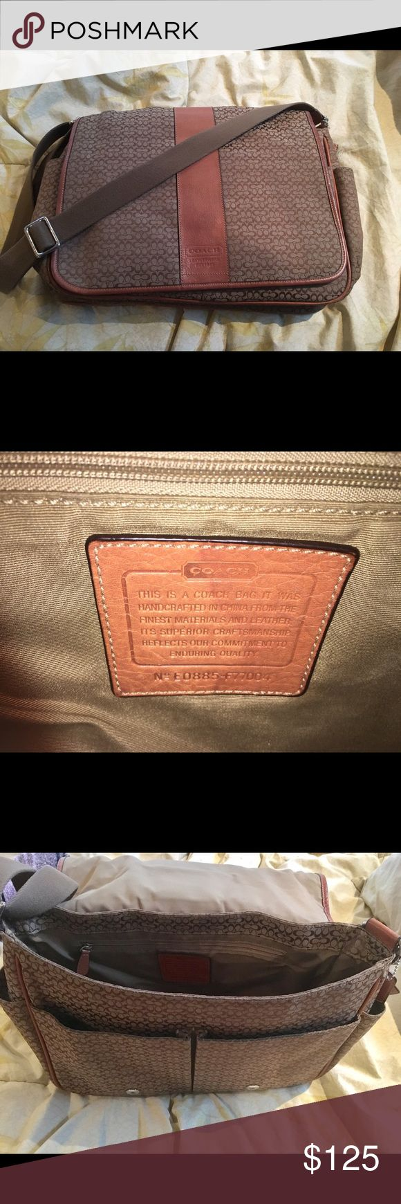 Coach messenger bag Used gently with barely any signs of wear. Nice, deep bag. Coach Bags Messenger Bags