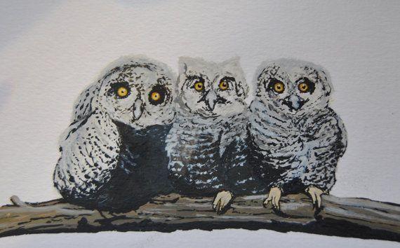 It Will Be Owlright by SofiaKalatzisGallery on Etsy