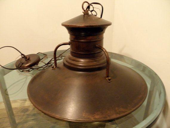Copper Kitchen Light Fixture: Copper KITCHEN FARMHOUSE Hanging Light Ceiling Fixture