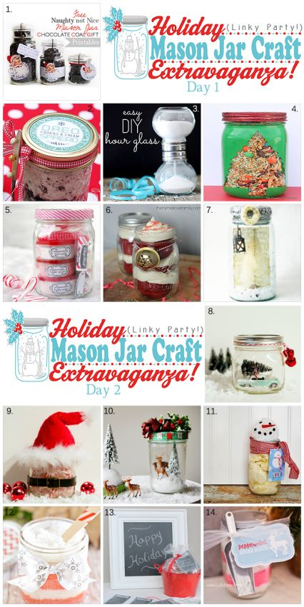 Holiday Mason Jar Craft Extravaganza #holidaygifts #masonjars #diygiftideas
