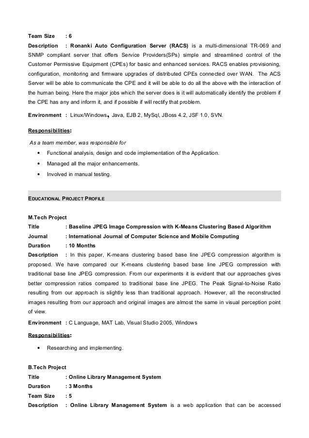 Resume Format For 6 Months Experience In Java Internship Resume Resume Format Resume