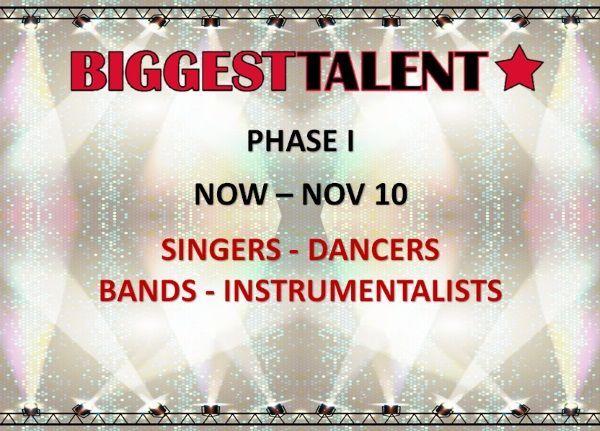 1. fáza BIGGEST TALENT: Kto sa môže zúčastniť? Speváci, sólisti, tanečníci, skupiny, inštrumentalisti
