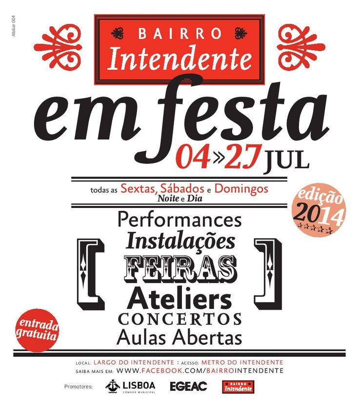 Events and activities in Bairro Intendente