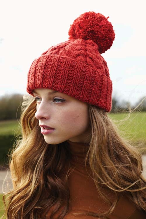 Debbie Bliss Blue Faced Leicester bobble hat Fashion ...