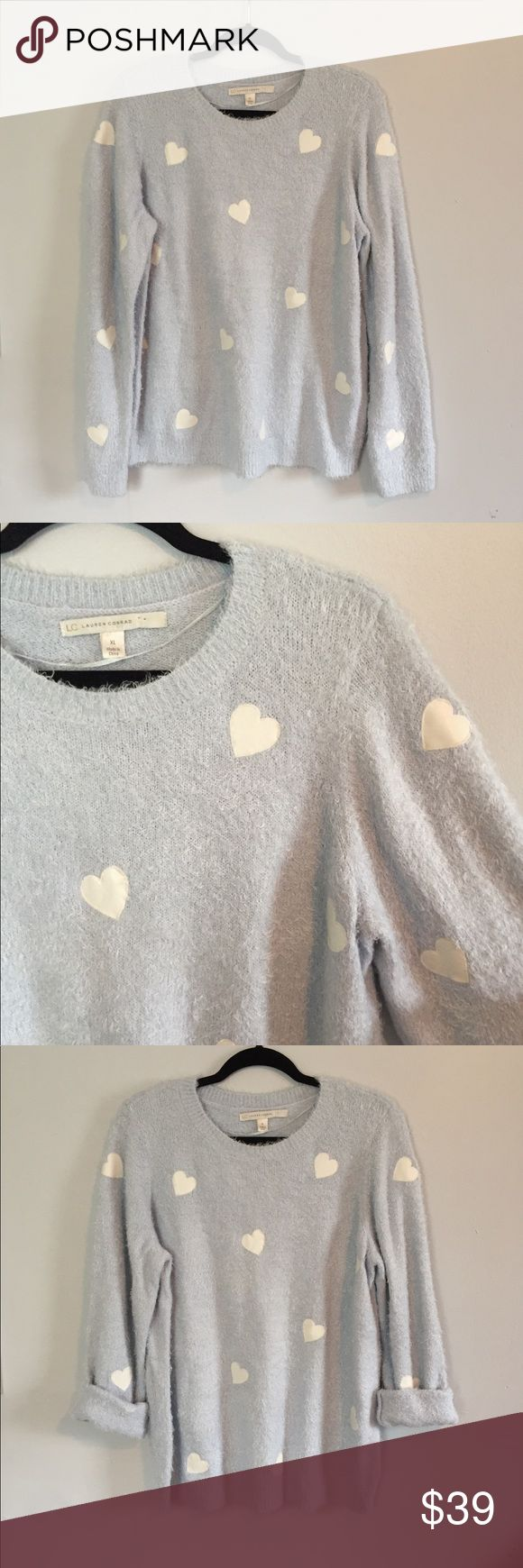 [Lauren Conrad] baby blue soft sweater This sweater is so SOFT!! Perfect for wearing oversized in the fall and winter! No modeling or trades. (A-14) Sweaters