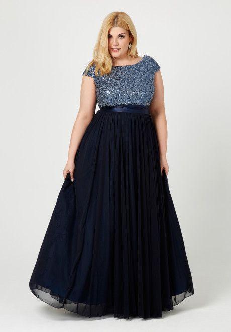 Nuestro vestido de vuelo en azul marino para ceremonias, bodas y celebraciones… …
